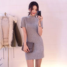 chuu - Wool Blend Mini Cable-Knit Dress