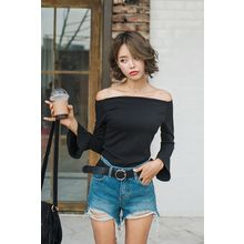 migunstyle - Off-Shoulder Bell-Sleeve Top