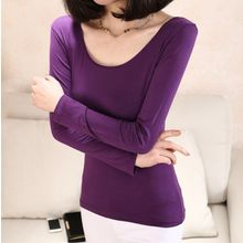 camikiss - Plain Long-Sleeve Warming Top