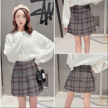 Whitney's Shop - Plaid A-line Skirt