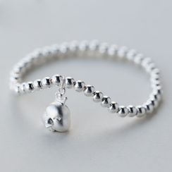 A'ROCH - 925 Sterling Silver Chicken Beaded Bracelet