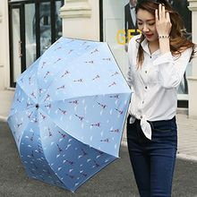 Petrichor - Eiffel Tower Print Compact Umbrella