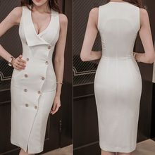 Aurora - Sleeveless Double-Breasted Dress