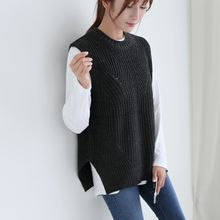 CLICK - Sleeveless Pointelle-Knit Top