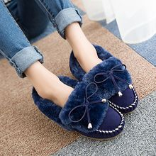 Pixie Pair - Furry Bow Loafers