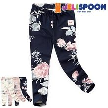 JELISPOON - Girls Flower Patterned Leggings