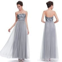 Ever Pretty - Sequined Strapless A-Line Evening Gown
