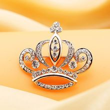 Trend Cool - Rhinestone Crown Brooch