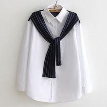 Angel Love - Mock Two Piece Striped Panel Shirt