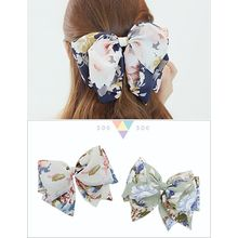 soo n soo - Flower Patterned Bow Hair Barrette