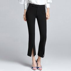 Sentubila - Cropped Boot Cut Pants