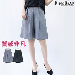 RingBear - Pleated Striped Shorts