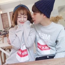 ZZP HOMME - Couple Matching Print Sweatshirt