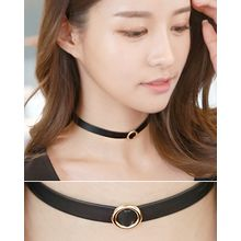 Miss21 Korea - Metal Embellished Choker