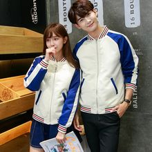 TOOI - Couple Matching Color Block Baseball Jacket