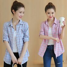 Lovebirds - Tab-Sleeve Plaid Shirt