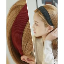 Miss21 Korea - Wide Rib-Knit Hair Band