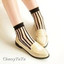CherryTuTu - Striped Sheer Socks