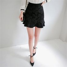Babi n Pumkin - Ruffled-Hem Laced Mini Skirt