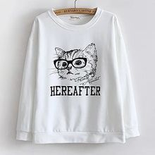 Angel Love - Cat Print Pullover