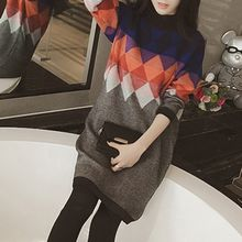 Fashion Street - Diamond Pattern Knit Tunic