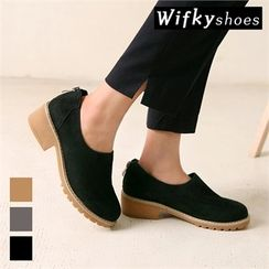 Wifky - Genuine-Leather Faux-Suede Loafers