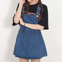 Isadora - Denim A-Line Pinafore Dress