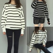 YOSH - Striped Drop-Shoulder Sweatshirt