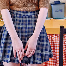 chuu - Inset Shorts Plaid A-Line Mini Pleat Skirt