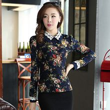 Lovebirds - Long-Sleeve Floral Lace Top