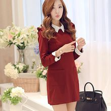 YUMU - Long-Sleeve Sheath Dress