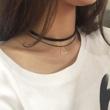 Ticoo - Double Strand Triangle Choker