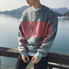 JUN.LEE - Colour Block Sweatshirt