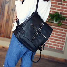 Bam's - Faux--Leather Studded Backpack
