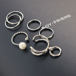 DANI LOVE - Set of 5: Rings