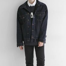 Seoul Homme - Boxy-Fit Washed Denim Jacket