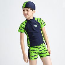 Aqua Wave - Kids Set : Raglan Rashguard + Swim Shorts + Swim Hat