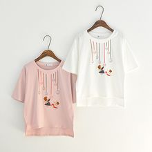 Angel Love - Embroidered Short Sleeve T-Shirt