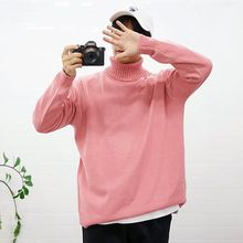 Seoul Homme - Colored Turtle-Neck Sweater