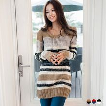 OrangeBear - Multi-Stripe Sweater Dress
