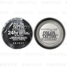 Maybelline New York - Color Tattoo by EyeStudio 24hr EyeShadow (#05 Too Cool) (White)