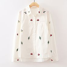 ninna nanna - Watermelon Embroidered Shirt