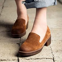 MIAOLV - Genuine Suede Loafer Pumps