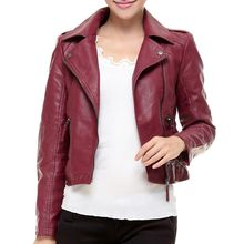 Bluewind - Faux Leather Biker Jacket