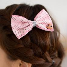 59 Seconds - Set of 2: Bow Dotted Pattern Hair Barrette