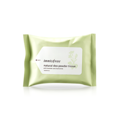 Innisfree - Natural Deo Powder Tissue (15 Sheets)