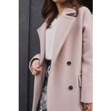 CHERRYKOKO - Double-Breasted Wool-Blend Coat