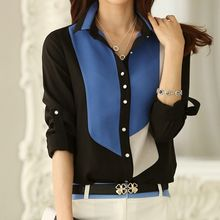 In the Mood - Color Panel Chiffon Shirt