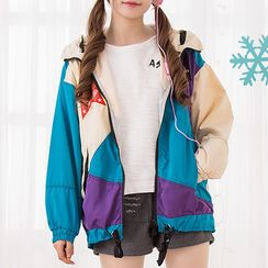 Fairyland - Color Block Hooded Windbreaker