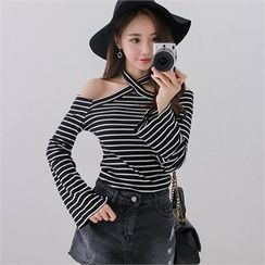 Babi n Pumkin - Off-Shoulder Striped Top